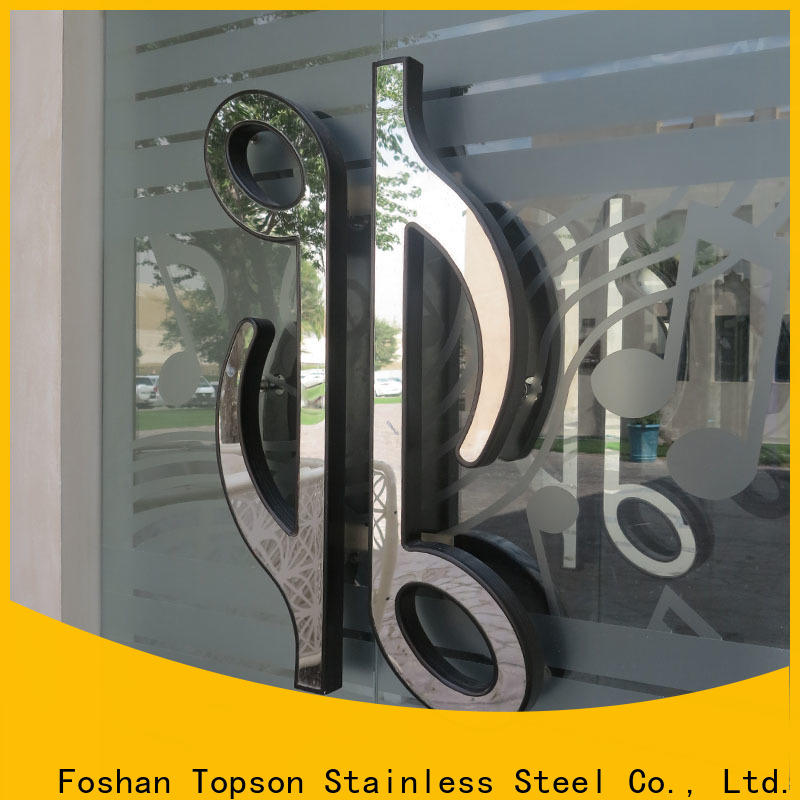Topson stainless stainless steel industrial handles factory for kitchen decoration