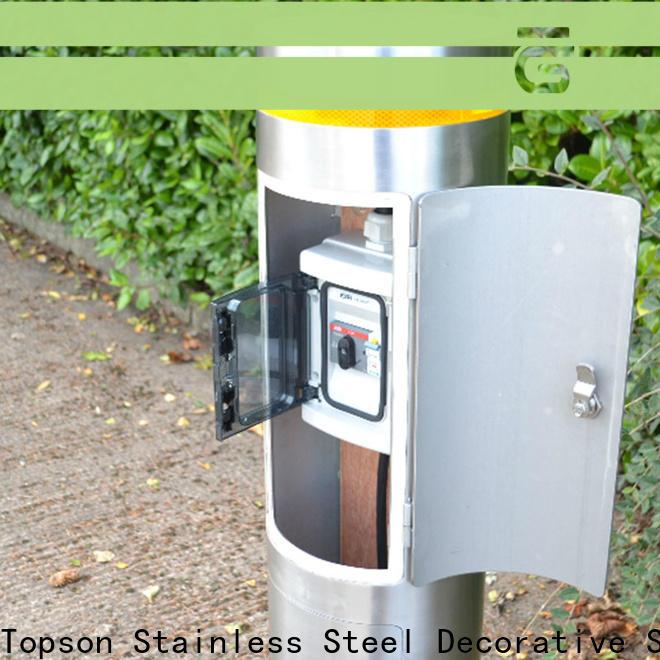 Topson steel stainless steel pipe bollards for room