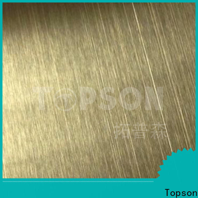 Topson brushed black stainless steel sheet metal factory for elevator for escalator decoration