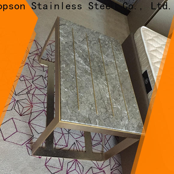 Topson stainless small black metal garden table company for outdoor