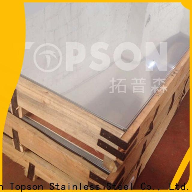 Topson cross coloured stainless steel sheet suppliers Supply for furniture