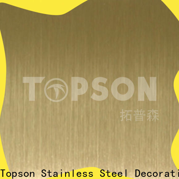 Topson stable decorative stainless steel sheet metal manufacturers for elevator for escalator decoration
