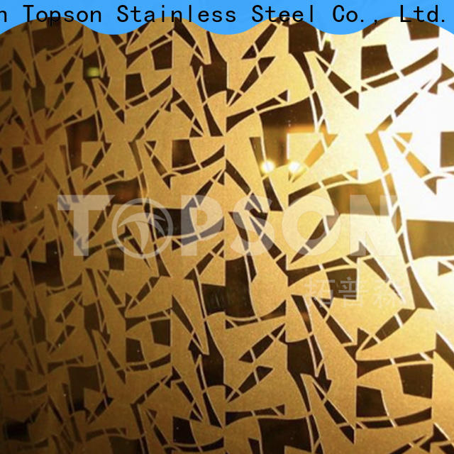 Topson decorative stainless steel sheet suppliers for business for handrail