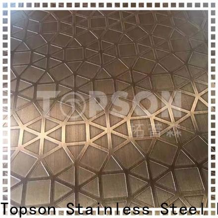Topson Top stainless steel sheet metal finishes Supply for furniture
