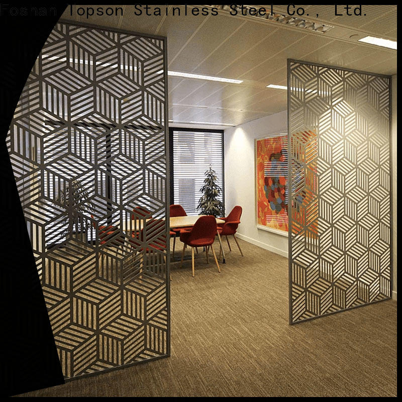 Topson metal mashrabiya design pattern Suppliers for curtail wall
