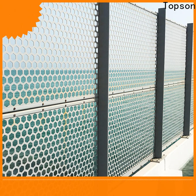 Topson perforated plate screen in china for landscape architecture
