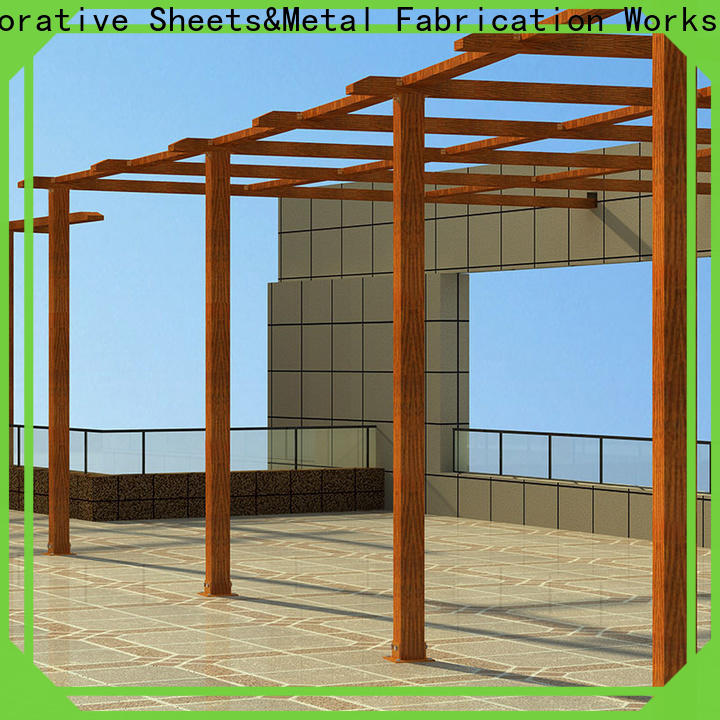 Latest aluminum garden arbor aluminium factory for park