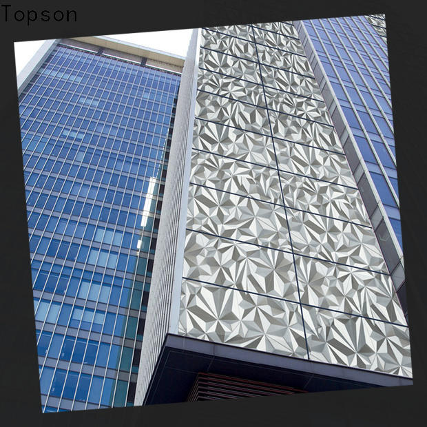 Topson fashion design stainless steel roofing details Supply for lift