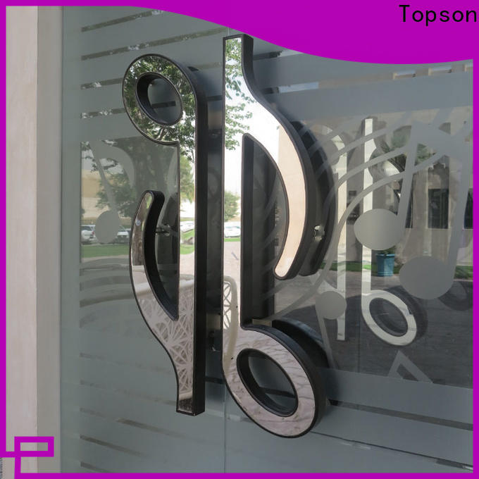 Topson elegant solid stainless steel door handles company for roof decoration