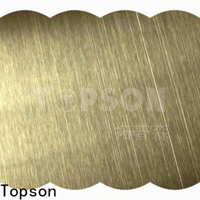 Topson Custom stainless steel sheets for sale manufacturers for interior wall decoration