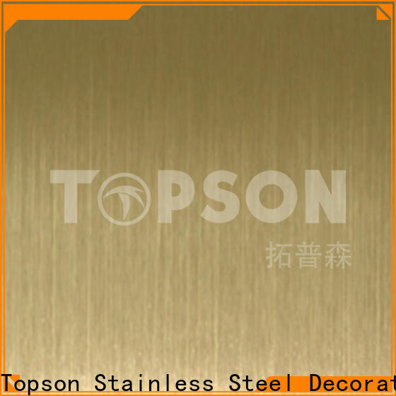 Topson sheetdecorative patterned stainless steel sheet supplier company for floor