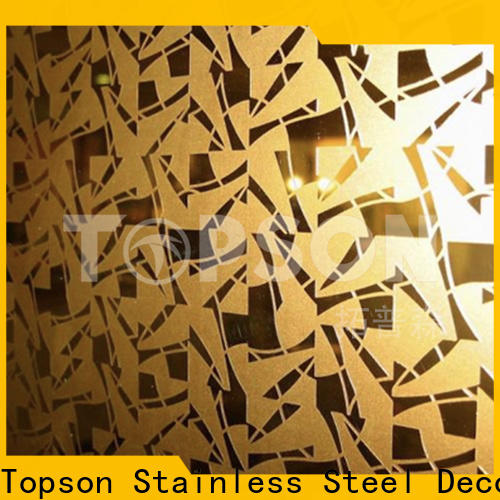 Topson metal stainless steel brushed finish types for kitchen