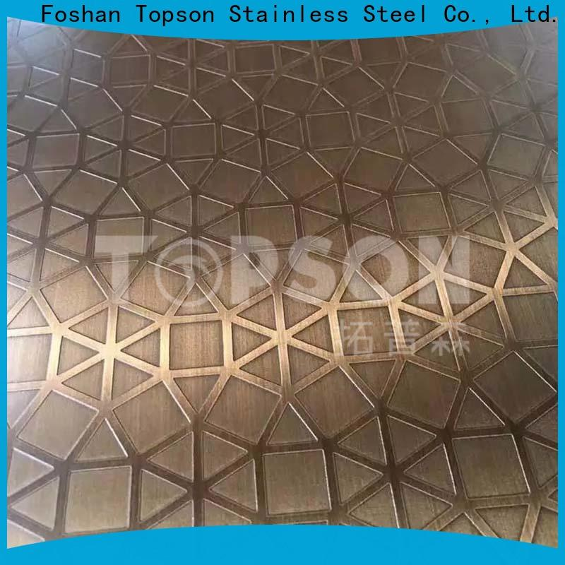 Topson brushed stainless steel finish for vanity cabinet decoration