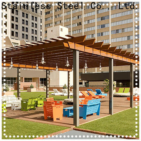 stain resistance metal work business pergola manufacturers for park