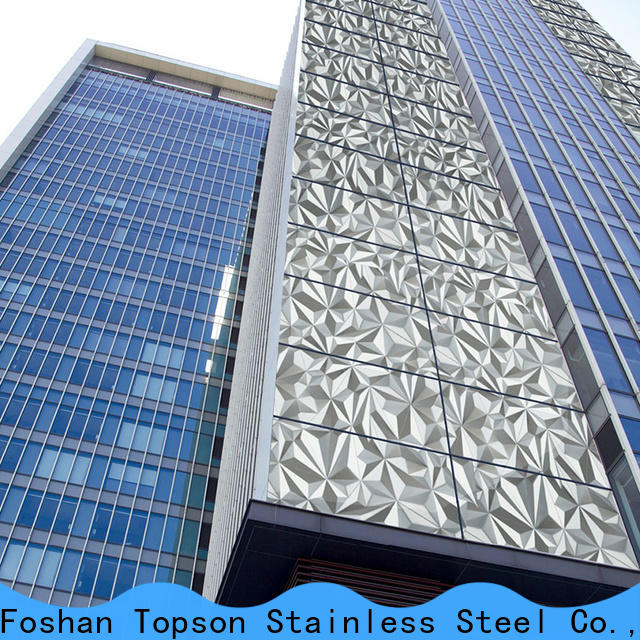 Topson reliable exterior metal wall cladding in china for wall