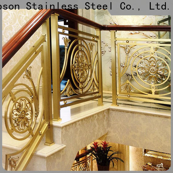 Topson curved stainless steel glass balcony railing designs for business for apartment