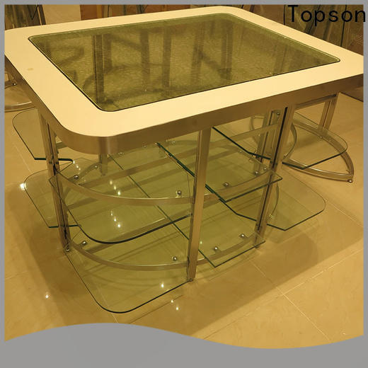 Topson Top metal and glass garden table and chairs for interior