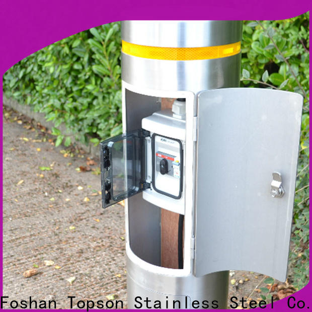 Topson Latest stainless steel bollards prices Supply for tower
