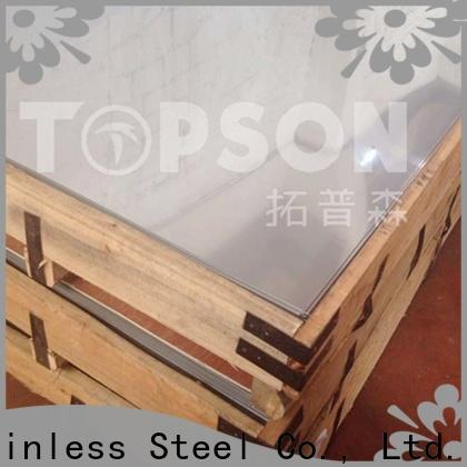 Topson stainless black stainless sheet Suppliers for floor