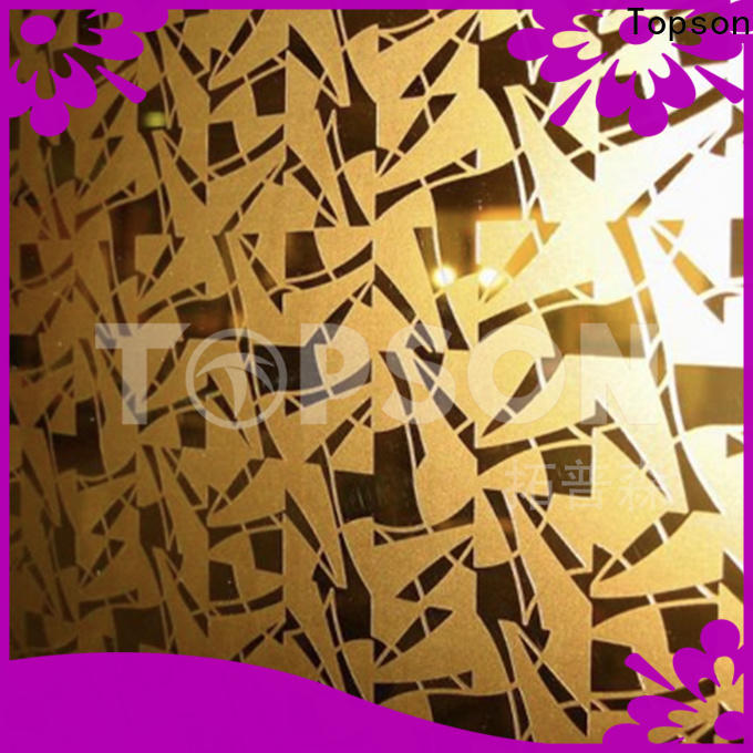 Topson mirror stainless steel sheet metal cost manufacturers for furniture