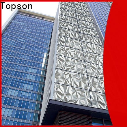 Topson cost-effective metal cladding panels factory for shopping mall