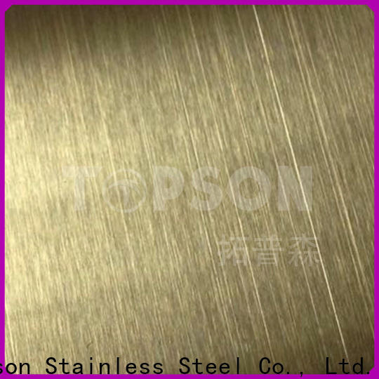 Topson antique bead blast finish stainless steel factory for partition screens