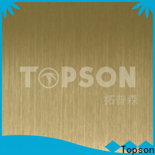 Topson hairline stainless steel etching sheet company for interior wall decoration