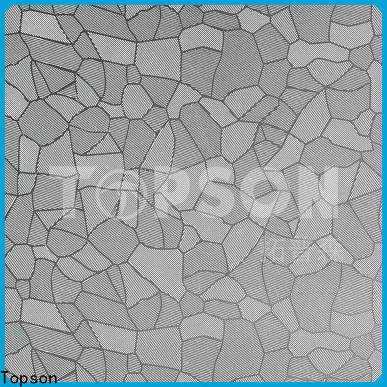 Topson decorative black stainless steel sheet metal China for kitchen
