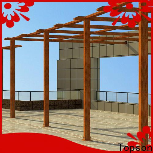 Latest aluminum pavilion kits coated company for resort