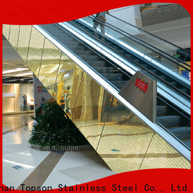 Topson professional stainless steel wall cladding systems for lift
