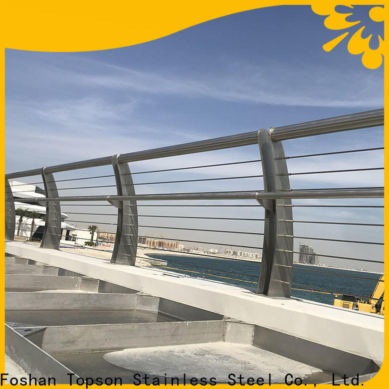 Topson stable glass and steel staircase railing for building