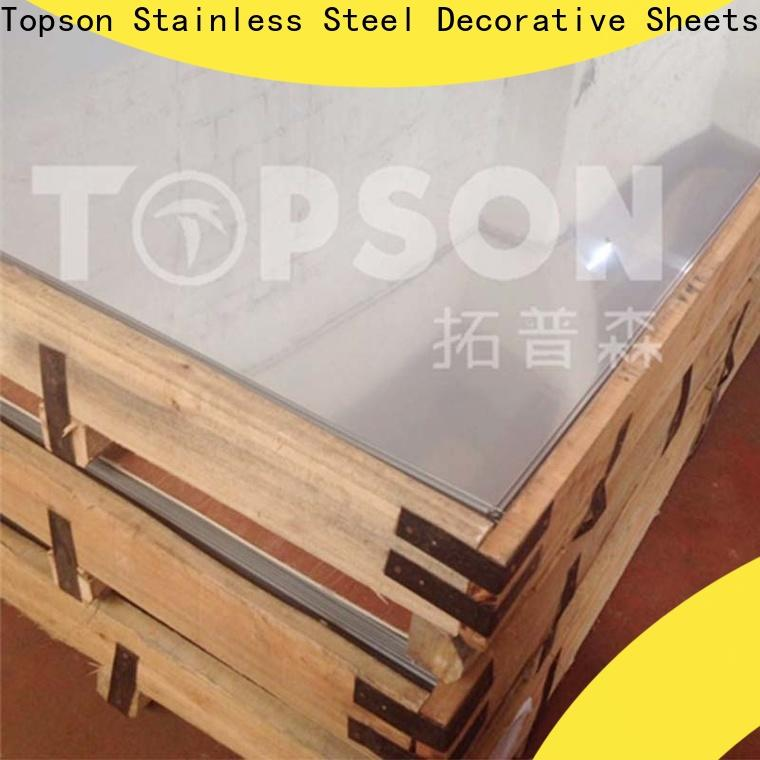 Topson metal brushed stainless steel sheet suppliers company for elevator for escalator decoration