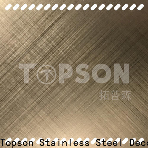 Topson blasted patterned stainless steel sheet supplier China for floor