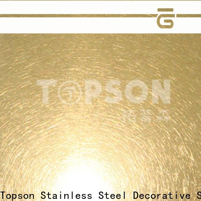 Topson sheetmirror brushed stainless sheet manufacturers for handrail