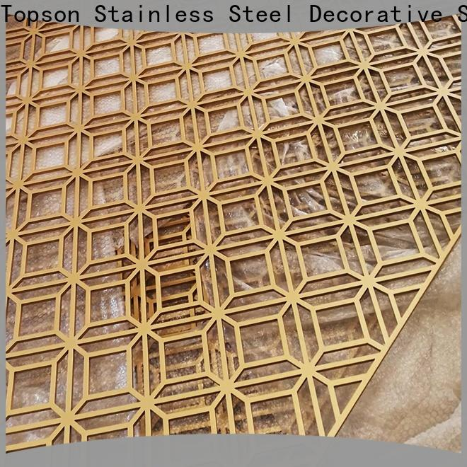Topson Wholesale perforated wood screen in china for exterior decoration
