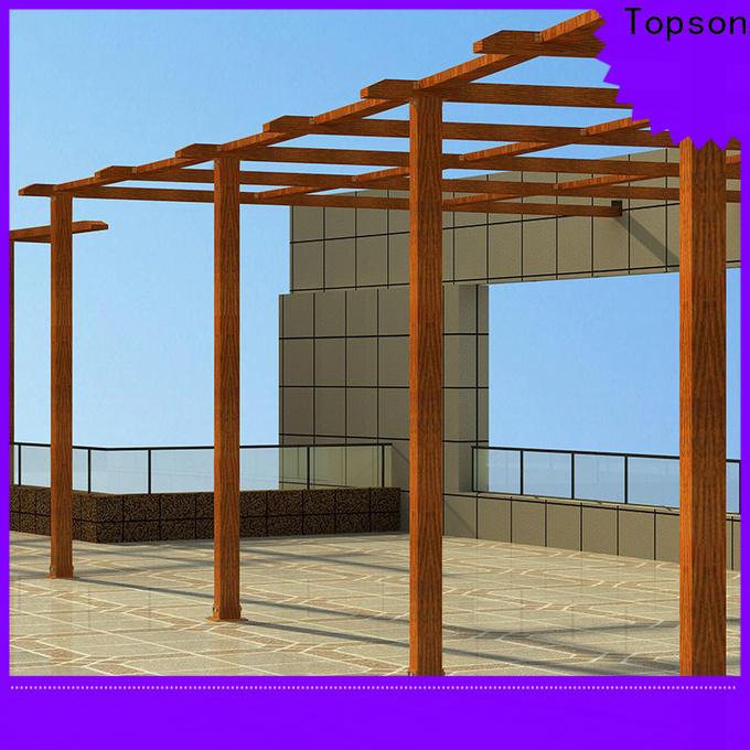 Topson pergola plan pergola aluminium China for hotel