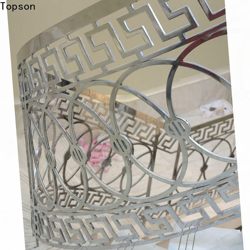 Topson high-tech cable handrails for stairs company for mall