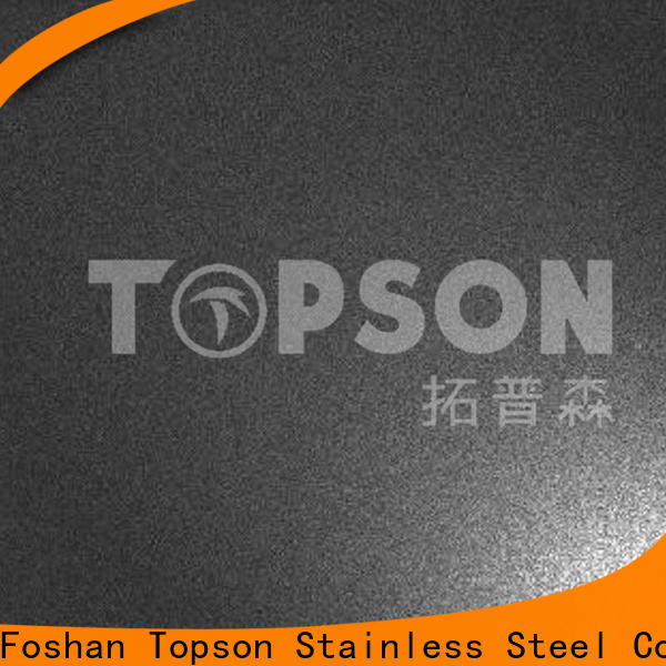 Topson Custom stainless sheet sizes manufacturers for furniture