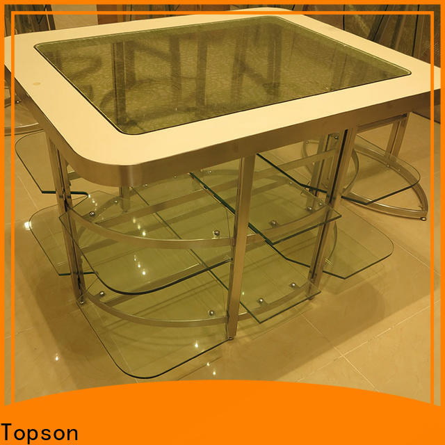 Topson marblestainless outdoor patio furniture iron oem for hotel lobby decoration