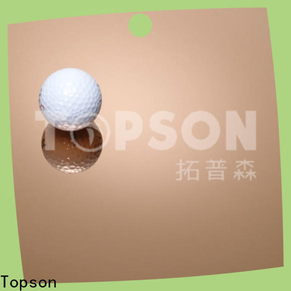 Topson vibration stainless steel etching sheet Suppliers for handrail