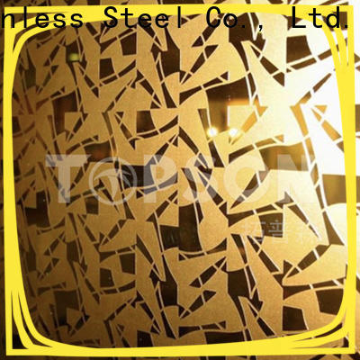 Topson stable stainless steel decorative panels manufacturers for kitchen