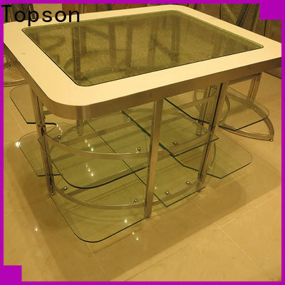Topson cabinetstainless iron patio table chairs for building facades