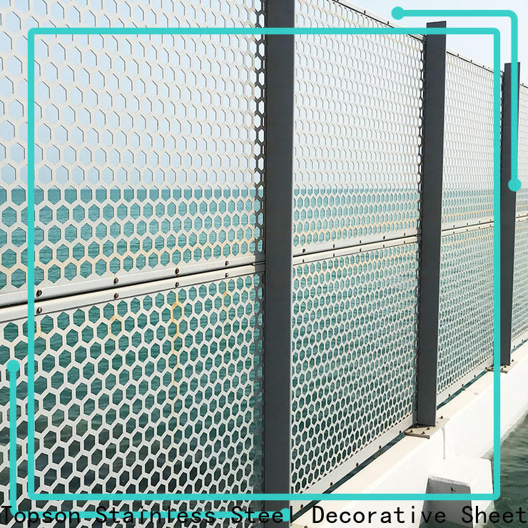 great practicality perforated wood screen decorative for exterior decoration