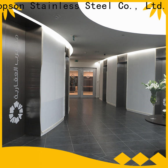 Topson cladding plain steel entry door for business for interior