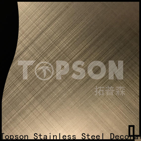 Topson sheetstainless decorative stainless steel sheet company for vanity cabinet decoration