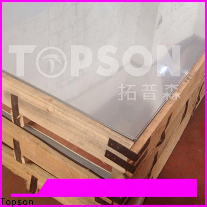 Topson sheetdecorative stainless steel sheet metal manufacturers factory for floor