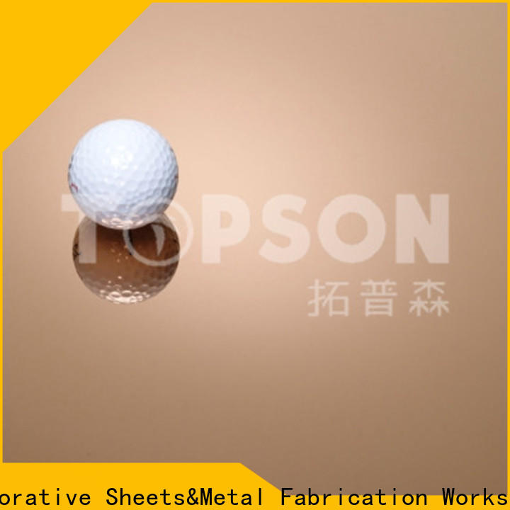 Topson hairline stainless steel sheet metal prices manufacturers for vanity cabinet decoration