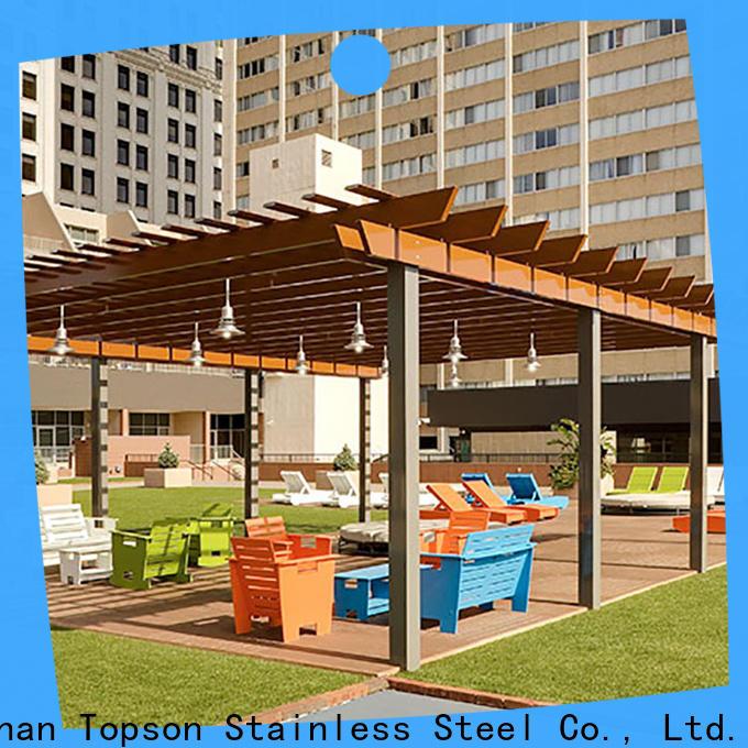 Topson coated aluminum pergola designs Supply for hotel