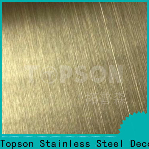 Topson colorful mirror stainless steel sheet Supply for vanity cabinet decoration