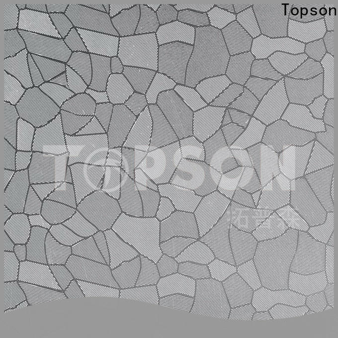 Topson finish textured stainless steel sheet metal China for furniture